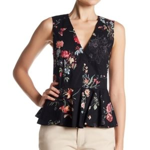Rebecca Taylor NWT Meadow Floral Peplum Top